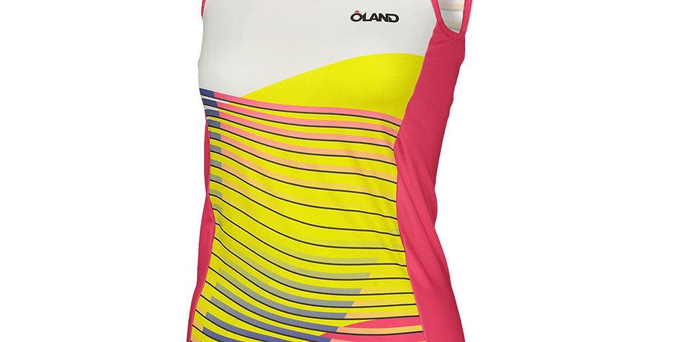 Waves - Orienteering Singlet - yellow women's