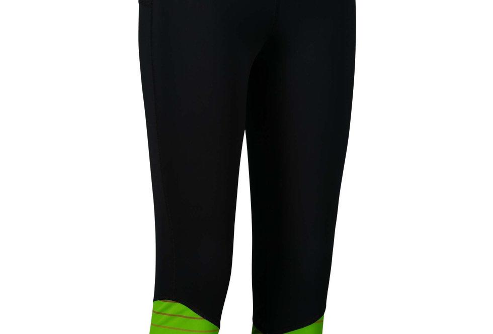 Orienteering 3/4 Tights - Black/Green women's