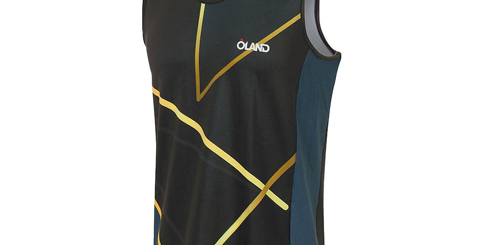 Gold - Orienteering Singlet - blue men's