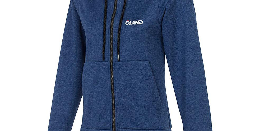 Oland Cotton Sweatshirt - Blue melange women's