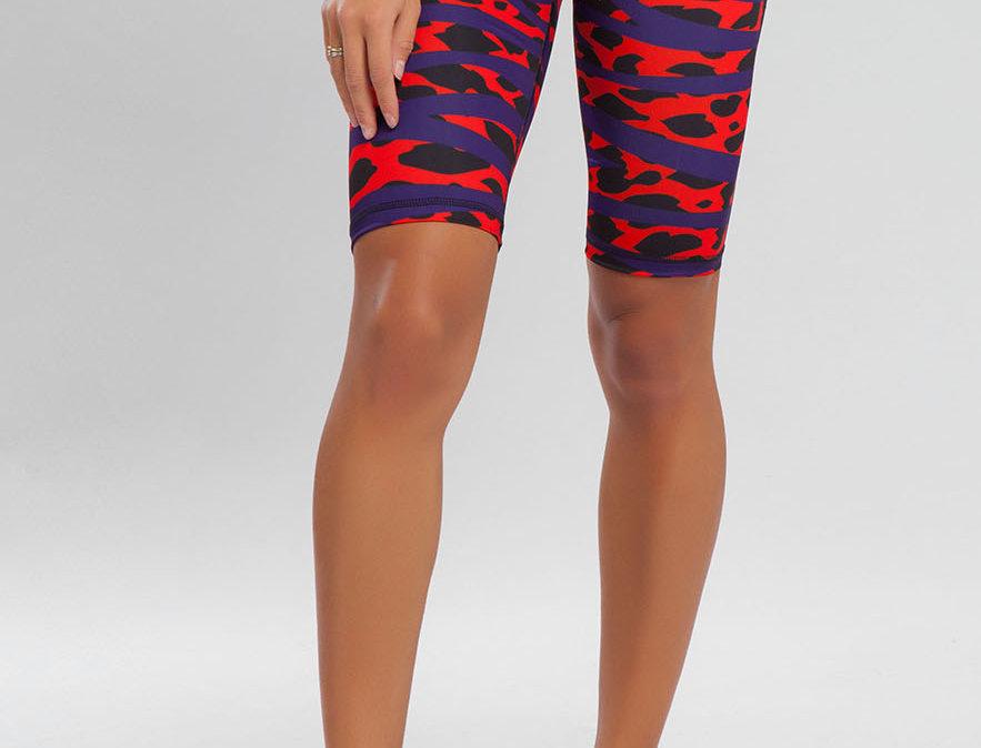 High Waist Short Running Tights - Red Jungle women's