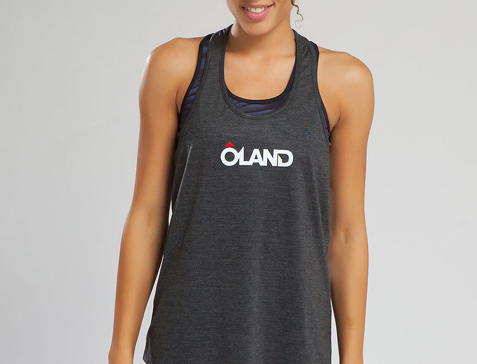 Running Singlet - Grey women's