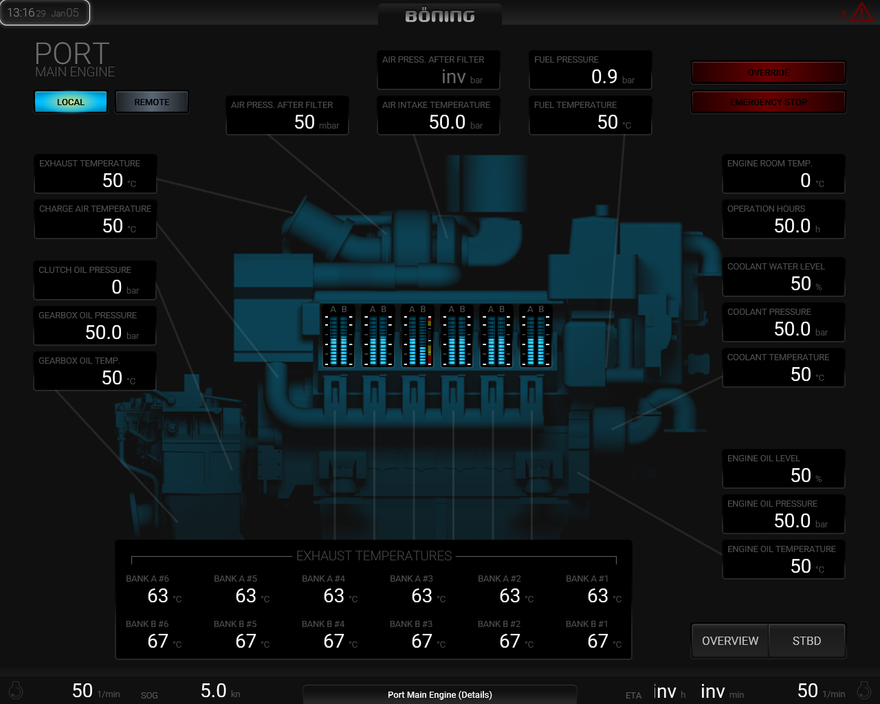 Port Main Engine (Details)