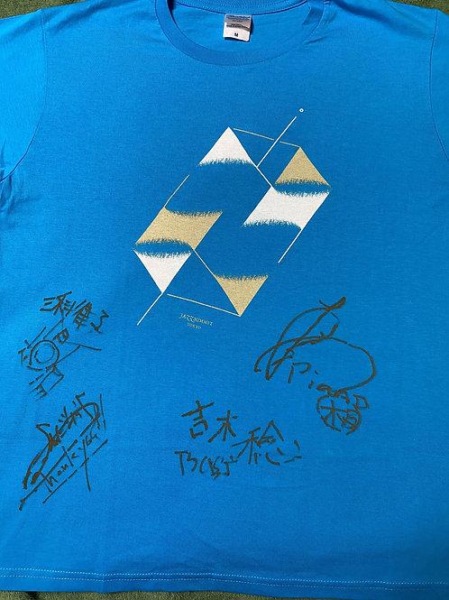 《限定1点のみ》板垣光弘 LOVE IS BLUE サイン入りTシャツ(青)