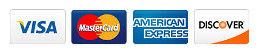 Visa, Mastercard, American Express and Discover cards accepted.