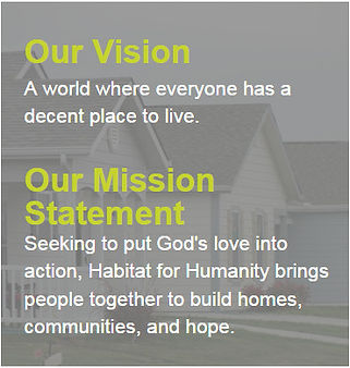 Habitat's vision an mission statements.