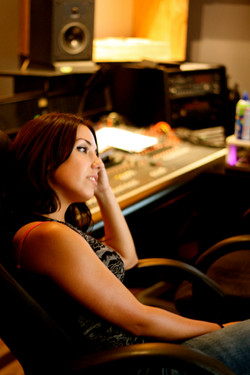 Nissa during a mixing session