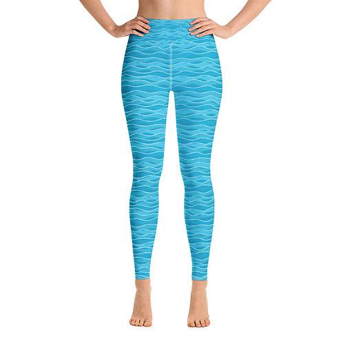 Ocean Ripples High Waist Yoga Leggings
