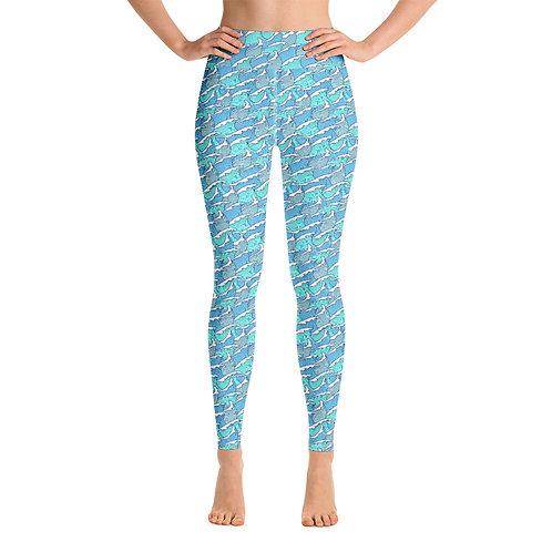 Waves Yoga Leggings
