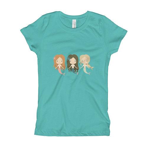 Three Mermaids Girl's T-Shirt