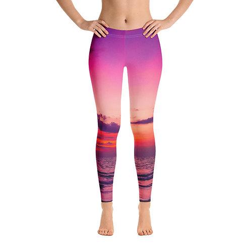 Purple Sunset Mermaid Legging