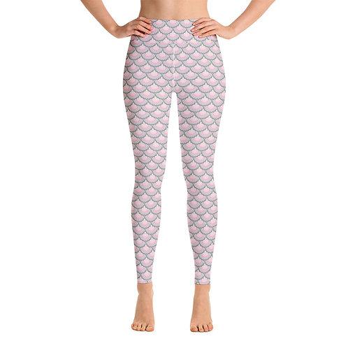 Pink Sea Shell Yoga Leggings