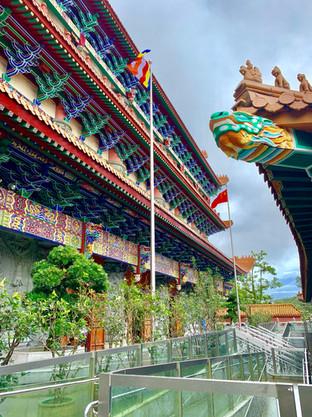 Hall of Ten Thousand Buddhas at Po Lin Monastery by Cometan