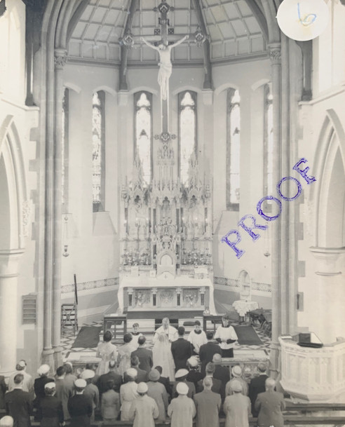 The Wedding of Hilda Cottam & William Warbrick in May 1958