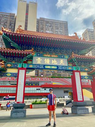 Cometan at the Taoist Temple of Hong Kong