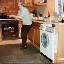 Hilda Warbrick Flipping Pancakes