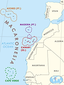 Astronism in Macaronesia is the presence of the Astronist religion in the Azores, Madeira, the Canary Islands, and in the Republic of Cabo Verde, as part of the worldwide Astronist Institution.
