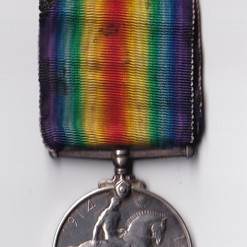 Dad's  British War and Victory medal (le
