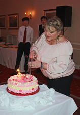 Stepmother of Cometan, Nadine Taylor, at her 50th Birthday Party held at Farington Lodge