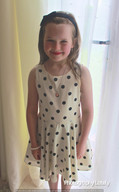 Charlotte Sophia Wearing Polka Dot Dress