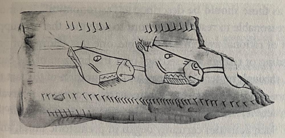 Figure 11 – Magdalenian Moon-tracking Bone specimen. (North, 2008, p5)