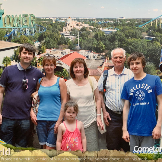 Cometan & His Family In Florida In 2012.