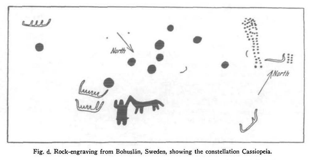 Figure 4 – Cassiopeian Man & Dog specimen (Makemson, 1954, p163-171)