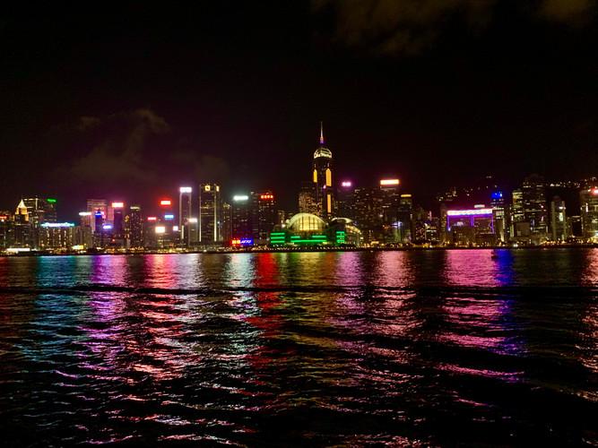 The Lights of Hong Kong by Cometan