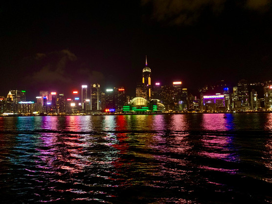The Lights of Hong Kong by Cometan