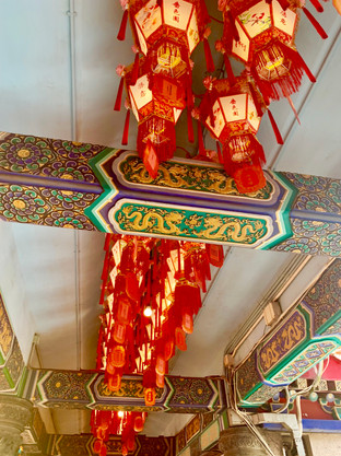 Lanterns of the Taoist Temple by Cometan