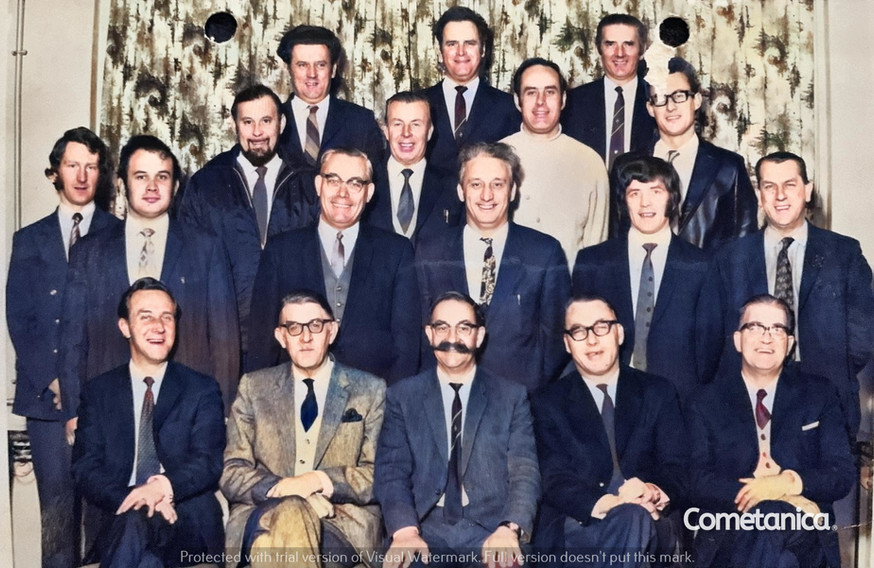 William Warbrick, grandfather of Cometan with colleagues (Colourised)