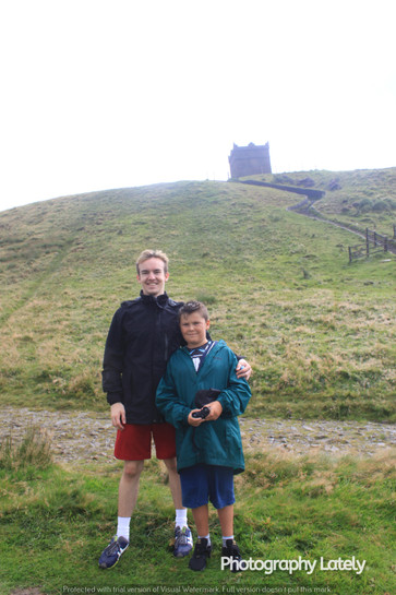 Cometan Alongside Kieran Taylorian In Front of Rivington Pike