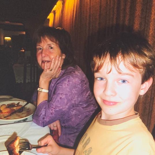 Cometan & His Grandmother, Hilda Warbric