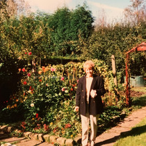 Hilda Warbrick In The Garden of Brooklands, Hoghton