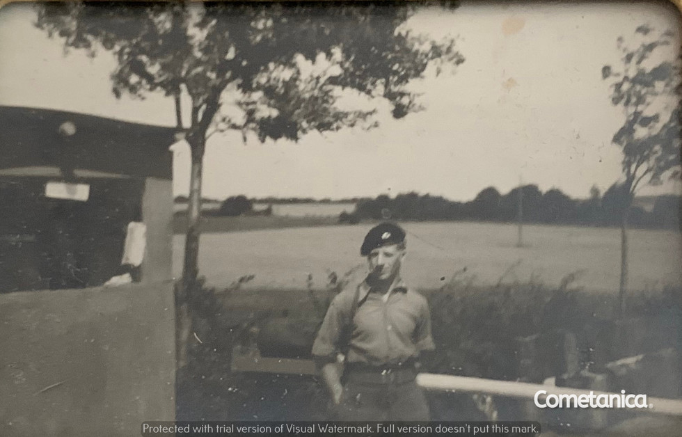 George Bolton, Great Uncle of Cometan, On The Border Between East & West Germany