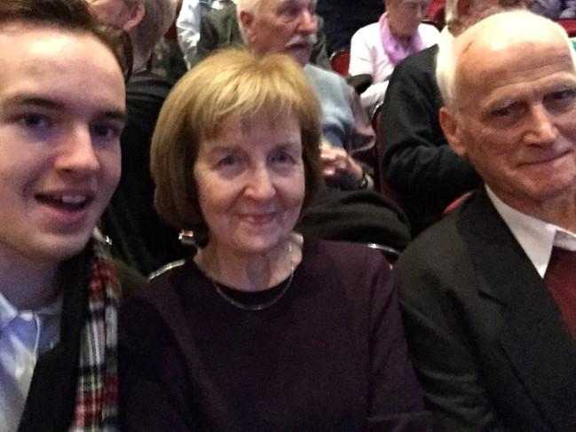 Cometan, Hilda Warbrick & Bill Warbrick at the Royal Albert Hall