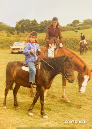 Young Louise Counsell On Horseback