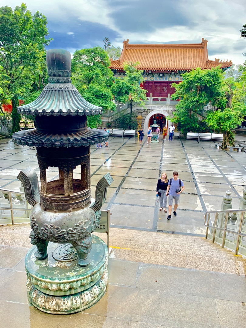 Po Lin Monastery, Lantau Island, Hong Kong Photo Taken by Cometan