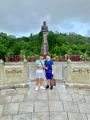 Heastward and MK at the Tian Tan Buddha of Hong Kong by Cometan