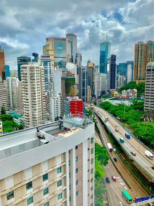 Downtown Hong Kong in August 2019.
