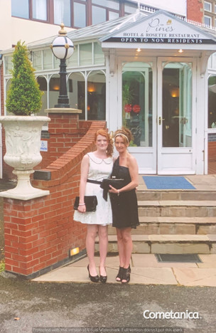 Lucia Natalie, Sister of Cometan, With Her Mother, Louise Counsell at The Pines in Clayton Brook For Lucia's 21st Birthday