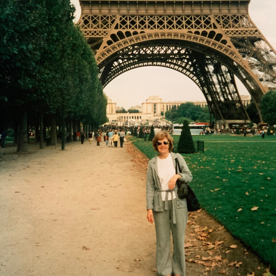 Hilda Warbrick In Front of The Eiffel To