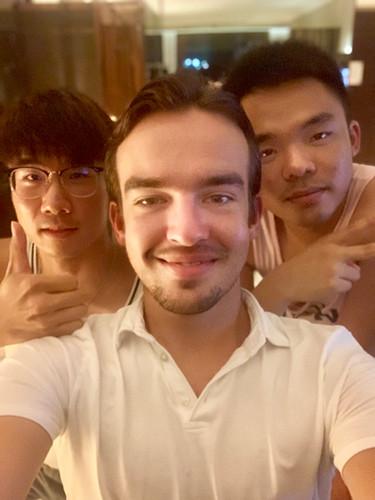 Cometan With Two Of His Friends, Heastward & MK In Hong Kong