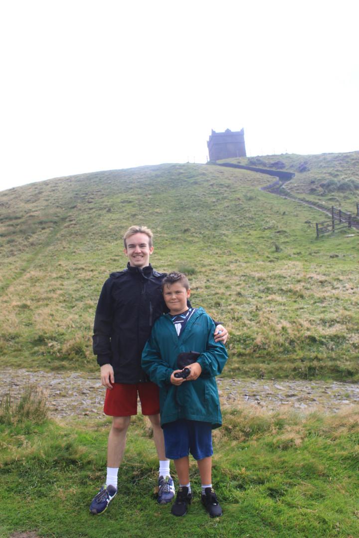 Cometan With His Brother, Kieran Taylorian Near Rivington Pike in Lancashire