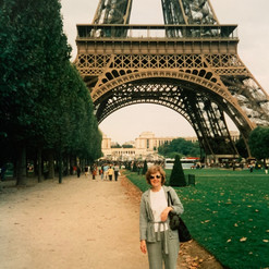 Hilda Warbrick In Front of The Eiffel Tower
