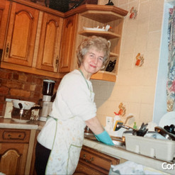 Hilda Warbrick In Kitchen of Brooklands.