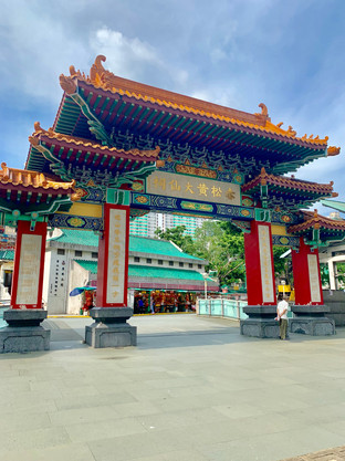 Gates to the Taoist Temple of Hong Kong. August 2019. Taken by Cometan