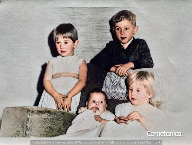 Four maternal relatives of Cometan (Colourised)