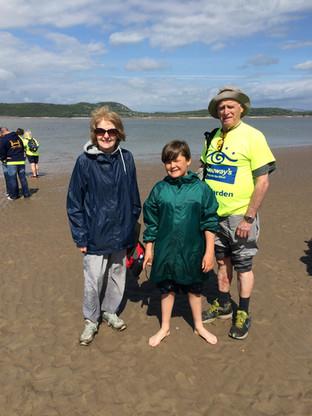 Kieran Taylorian on Morecambe Bay with Hilda & Bill Warbrick, Cometan's Grandparents