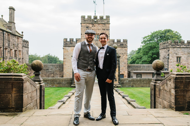 Cometan With His Stepbrother, Lewis Boyle, on 29th June 2019 at Cometan's 21st Birthday Party that took place at Hoghton Tower